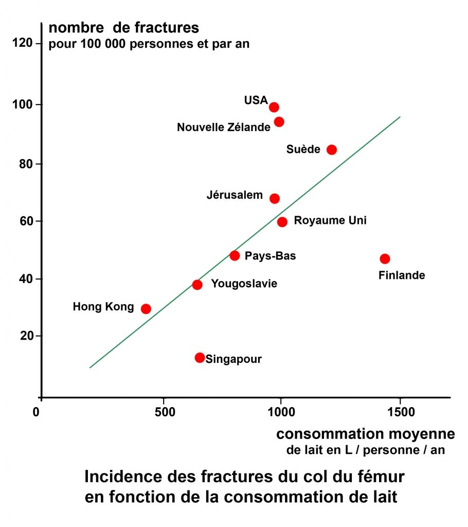 Fracture col fémur et produits laitiers